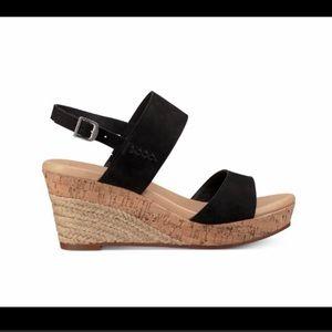 Ugg Elena Suede Espadrille Wedge sandal heels
